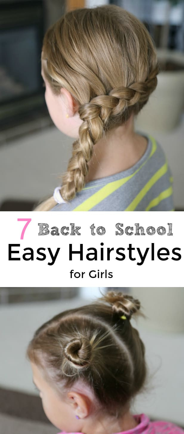 Best ideas about Easy School Hairstyles . Save or Pin 7 Back to School Easy Hairstyles for Girls Now.