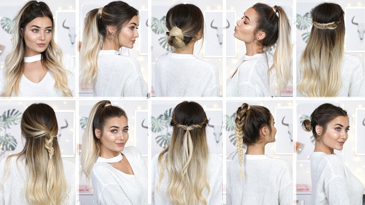 Best ideas about Easy School Hairstyles . Save or Pin 10 EASY HEATLESS BACK TO SCHOOL HAIRSTYLES Now.