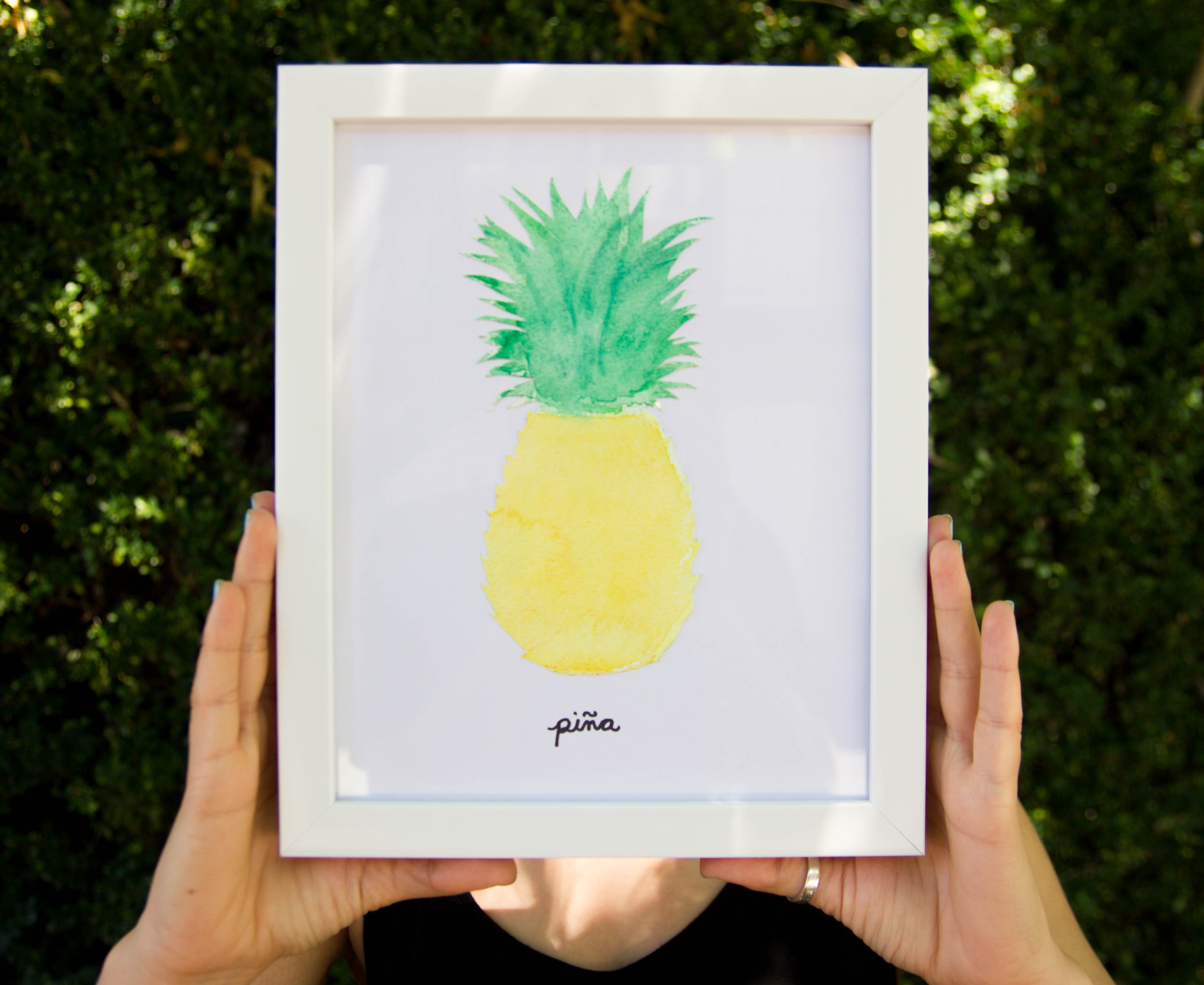 Best ideas about Easy Things To Paint . Save or Pin watercolor pineapple print Now.
