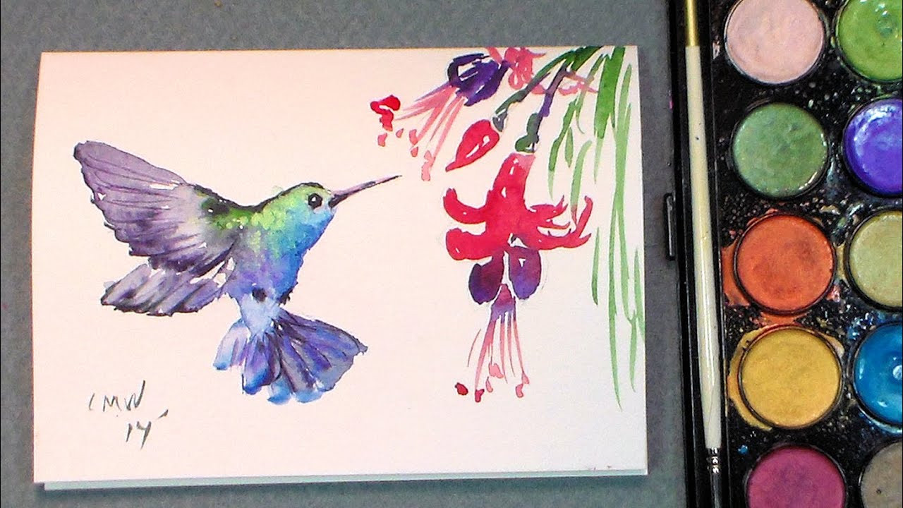 Best ideas about Easy Things To Paint . Save or Pin Paint a quick hummingbird in watercolors quick & easy Now.