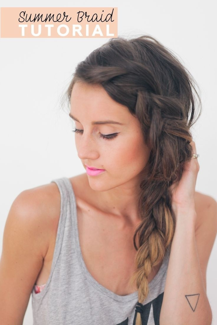 Best ideas about Easy To Style Haircuts . Save or Pin 26 Pretty Braided Hairstyle for Summer PoPular Haircuts Now.