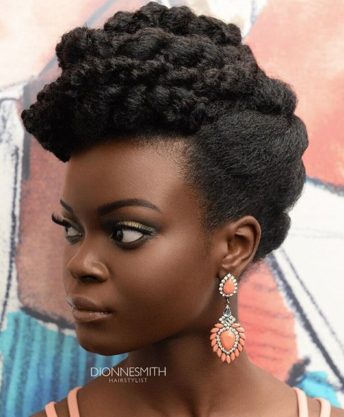 Best ideas about Easy Twist Hairstyles For Natural Hair . Save or Pin 50 Cute Updos for Natural Hair Now.