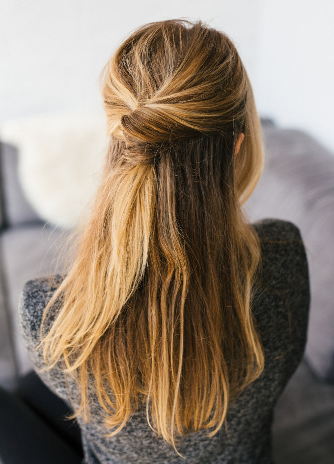 Best ideas about Easy Up Hairstyles . Save or Pin 15 Simple Hairstyles that are Half Up Half Down Now.