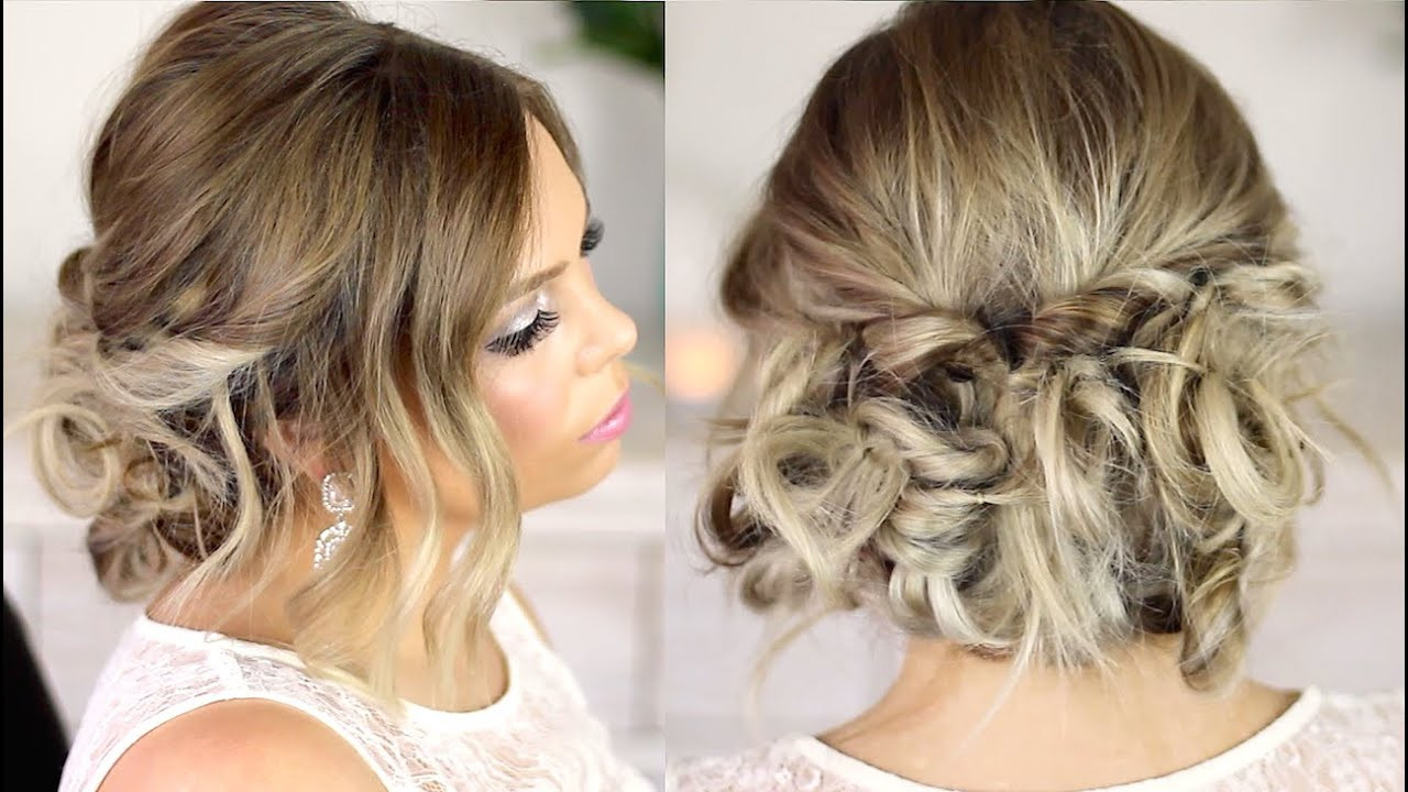 Best ideas about Easy Up Hairstyles . Save or Pin Easy Formal Hair Messy Up Style Tutorial Now.