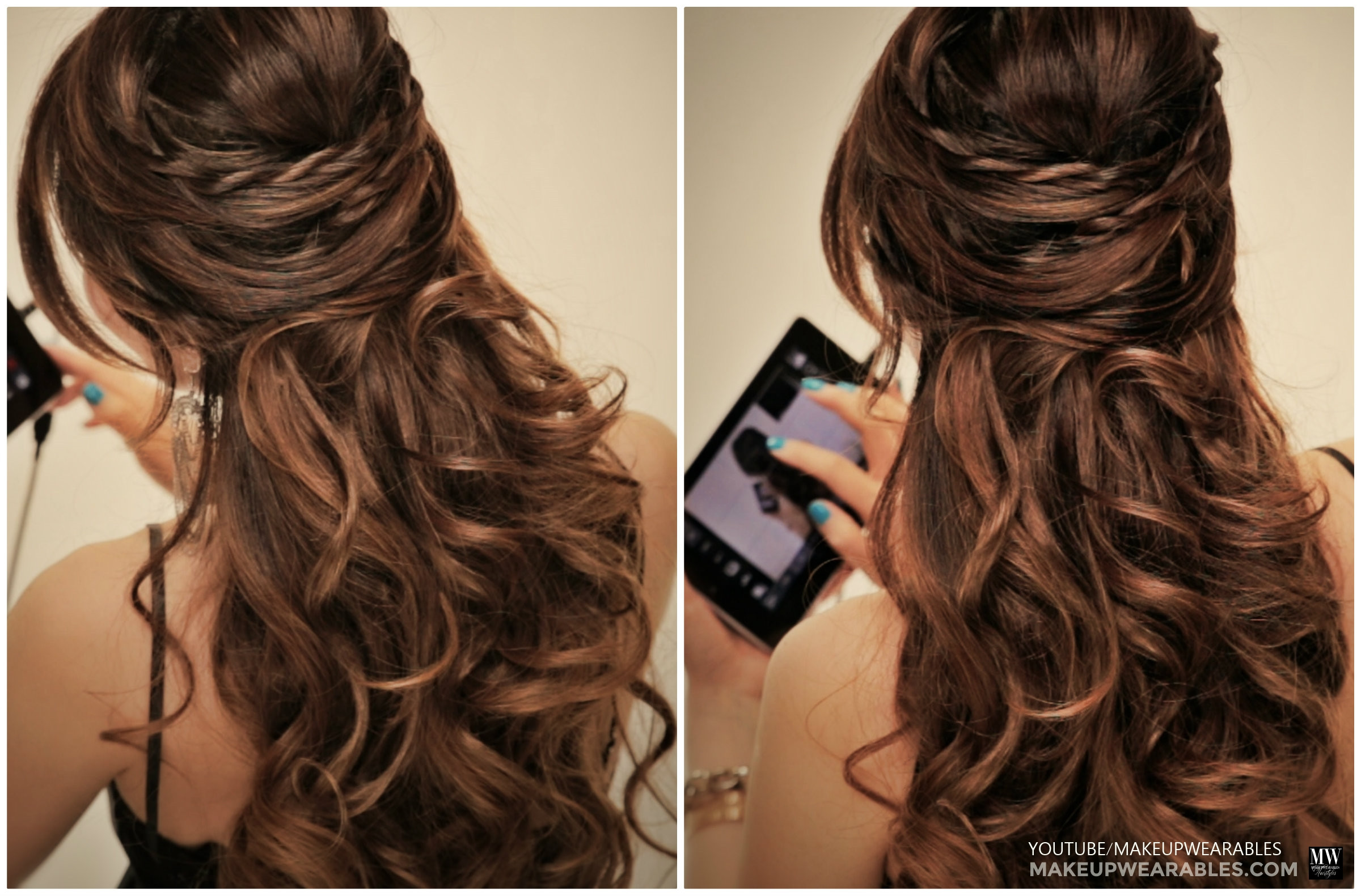 Best ideas about Easy Up Hairstyles . Save or Pin Romantic crisscross half up half down updo with twists Now.