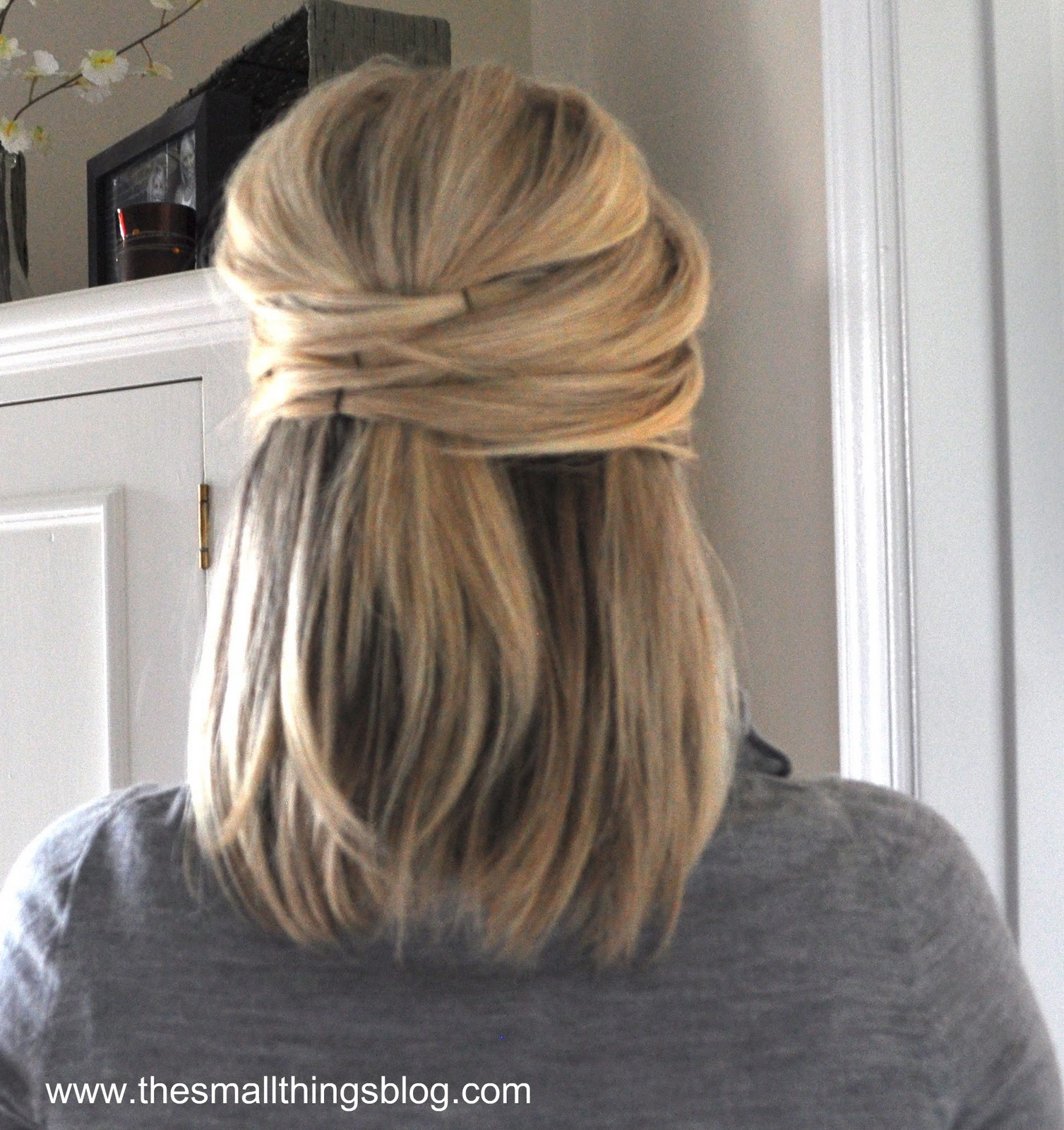 Best ideas about Easy Up Hairstyles . Save or Pin Elegant Half Up – The Small Things Blog Now.