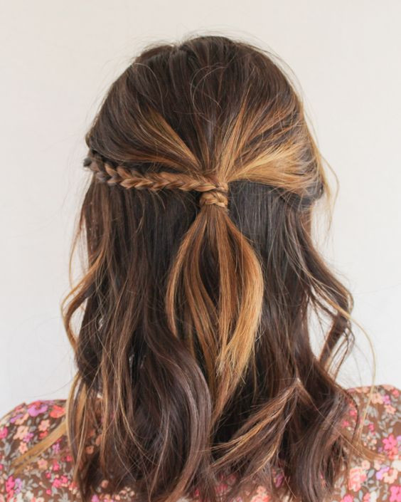 Best ideas about Easy Up Hairstyles . Save or Pin 20 Easy Half Up Hairstyles That ll ly Take Minutes To Now.