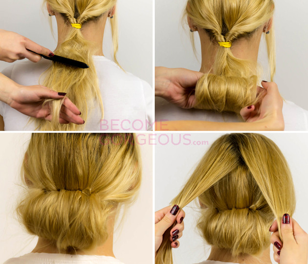Best ideas about Easy Up Hairstyles . Save or Pin Easy Updo Hairstyle Tutorial Now.
