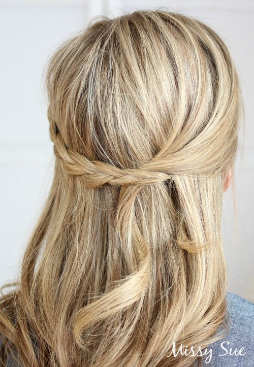 Best ideas about Easy Up Hairstyles . Save or Pin 20 Trendy Half Braided Hairstyles Now.