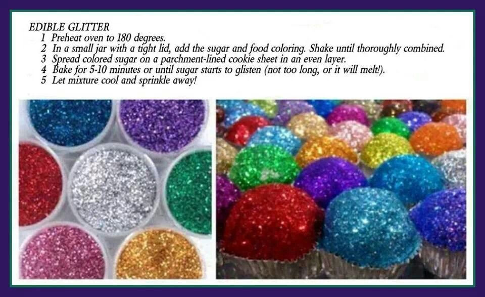 Best ideas about Edible Glitter DIY . Save or Pin Edible glitter Recipe Now.