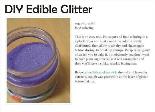 Best ideas about Edible Glitter DIY . Save or Pin DIY edible glitter DIY Now.