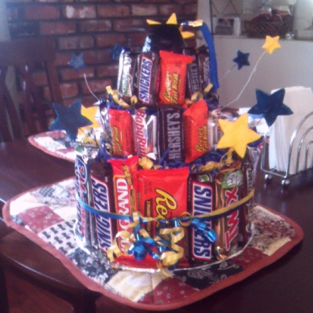 Best ideas about Eighth Grade Graduation Gift Ideas . Save or Pin Candy bar cake for my nephew s 8th grade graduation Now.