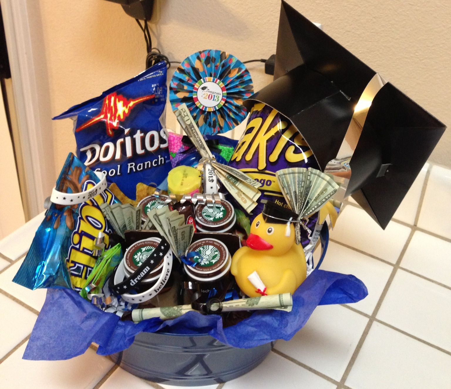 Best ideas about Eighth Grade Graduation Gift Ideas . Save or Pin Graduation t basket for 8th grader Now.