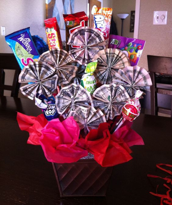 Best ideas about Eighth Grade Graduation Gift Ideas . Save or Pin Money candy bouquet I made this for my niece as a t Now.
