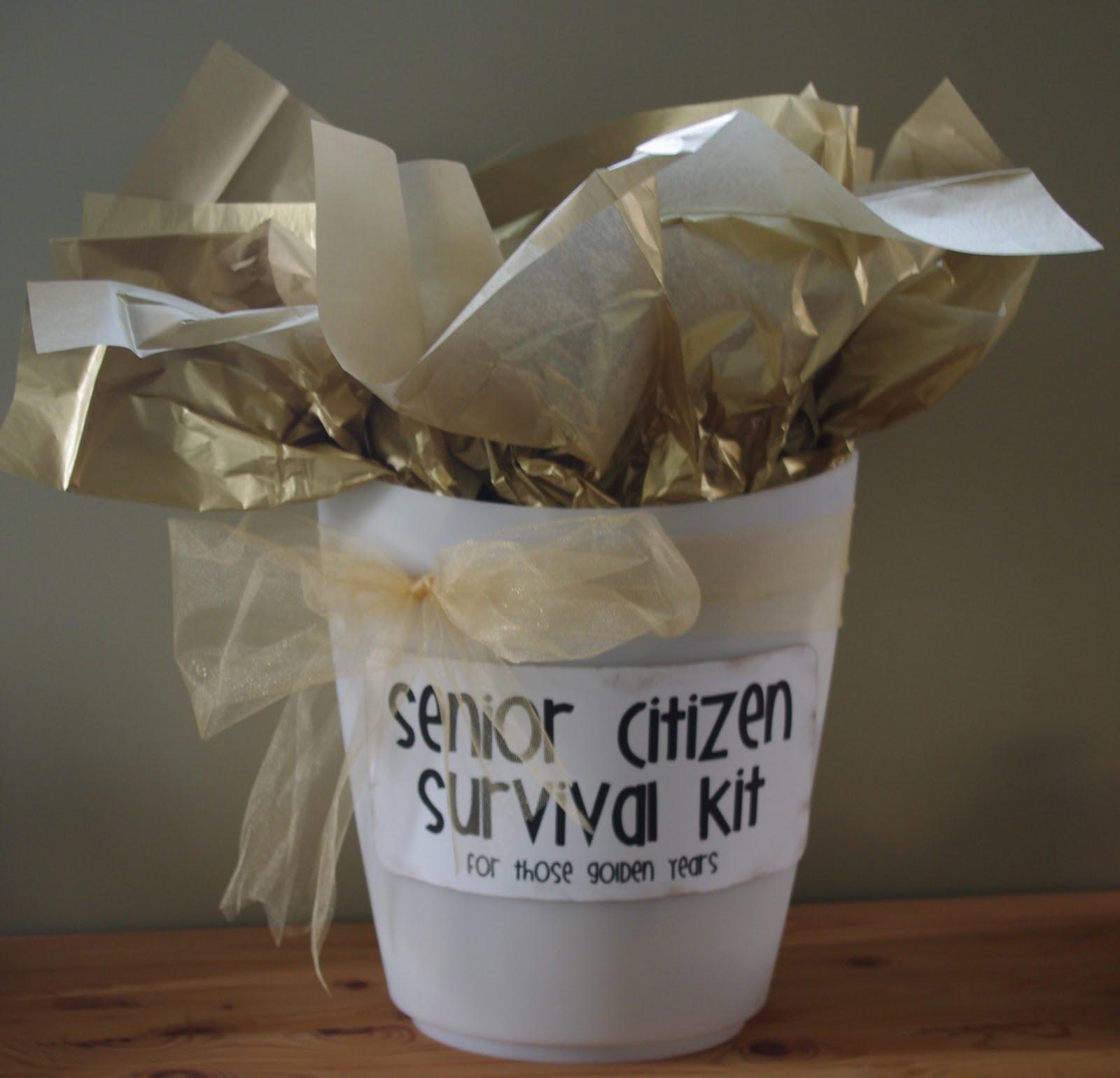 "Best ideas about Elder Gift Ideas . Save or Pin Creative ""Try""als Senior Citizen Survival Kit Now."