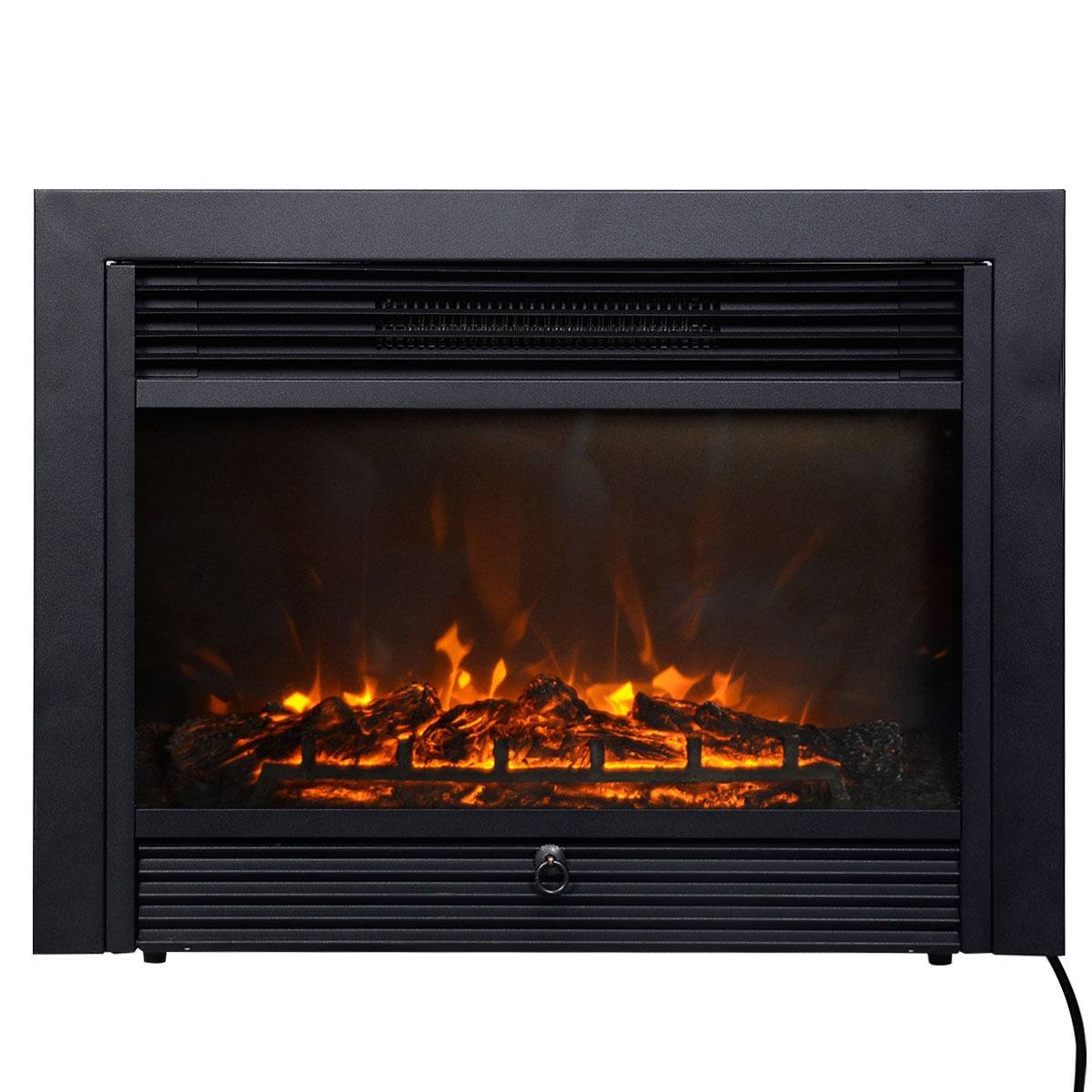 """Best ideas about Electric Fireplace Insert With Heater . Save or Pin Electric Fireplace Insert 28 5"""" Embedded Heater Glass View Now."""