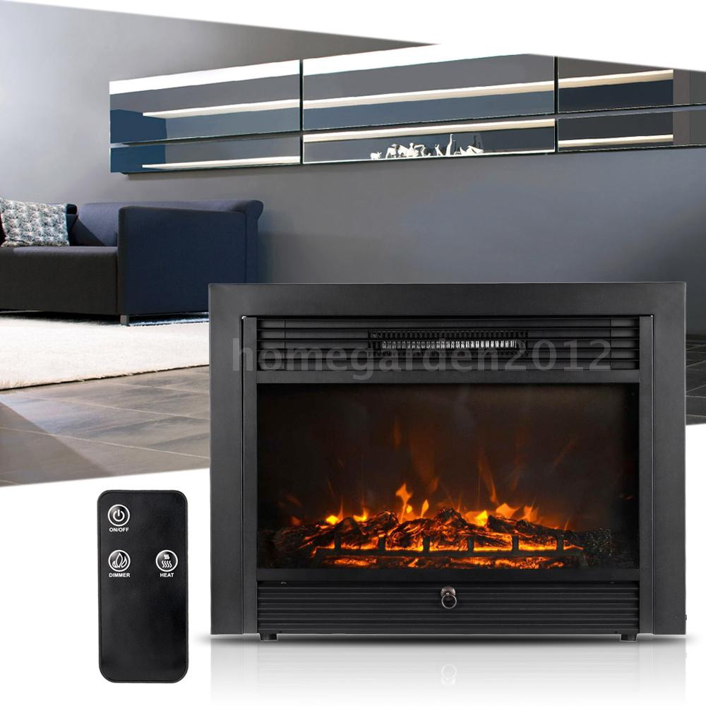 """Best ideas about Electric Fireplace Insert With Heater . Save or Pin Embedded 28 7"""" Electric Fireplace Insert Heater Remote Now."""