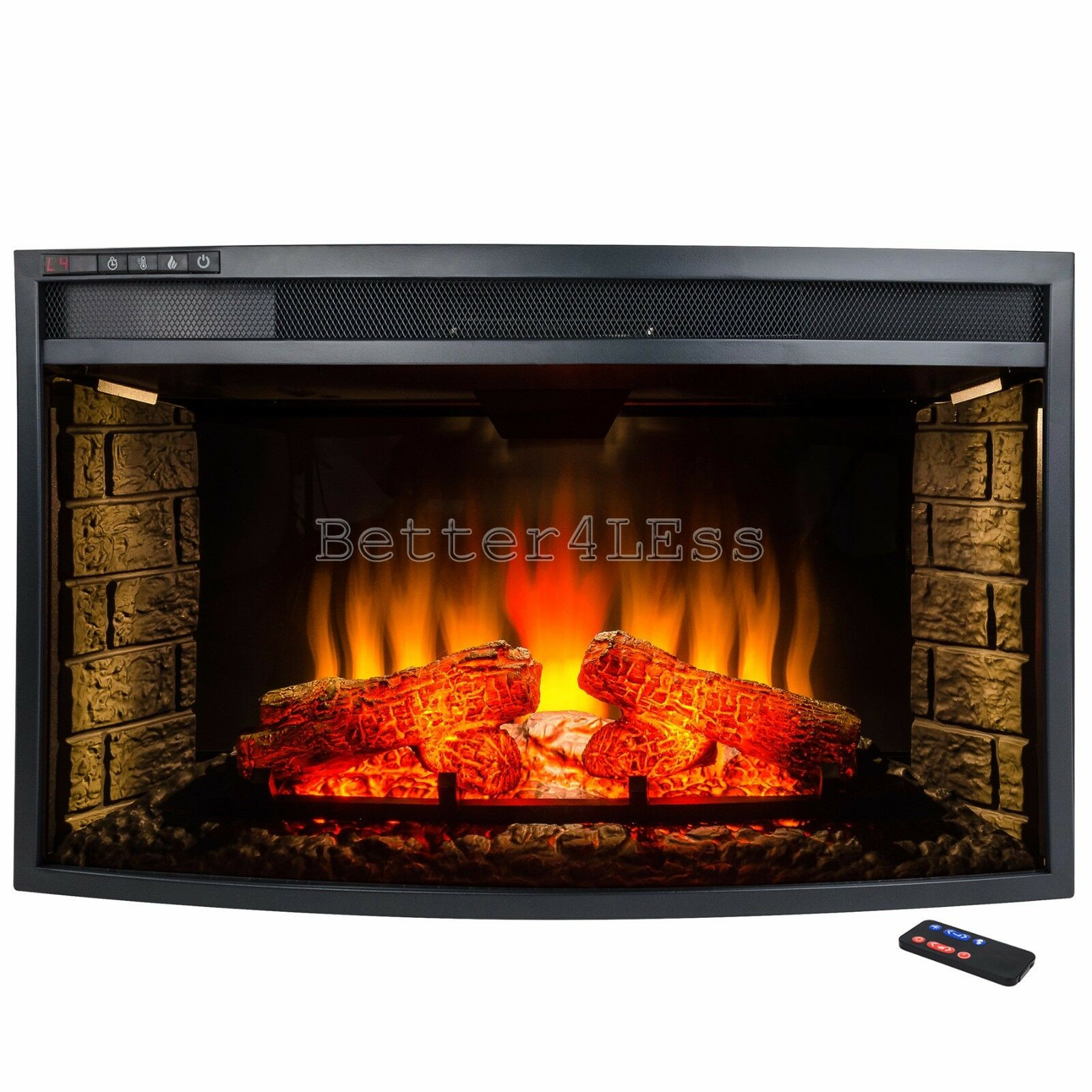 """Best ideas about Electric Fireplace Insert With Heater . Save or Pin 33"""" Freestanding Electric Fireplace Insert Heater w Now."""
