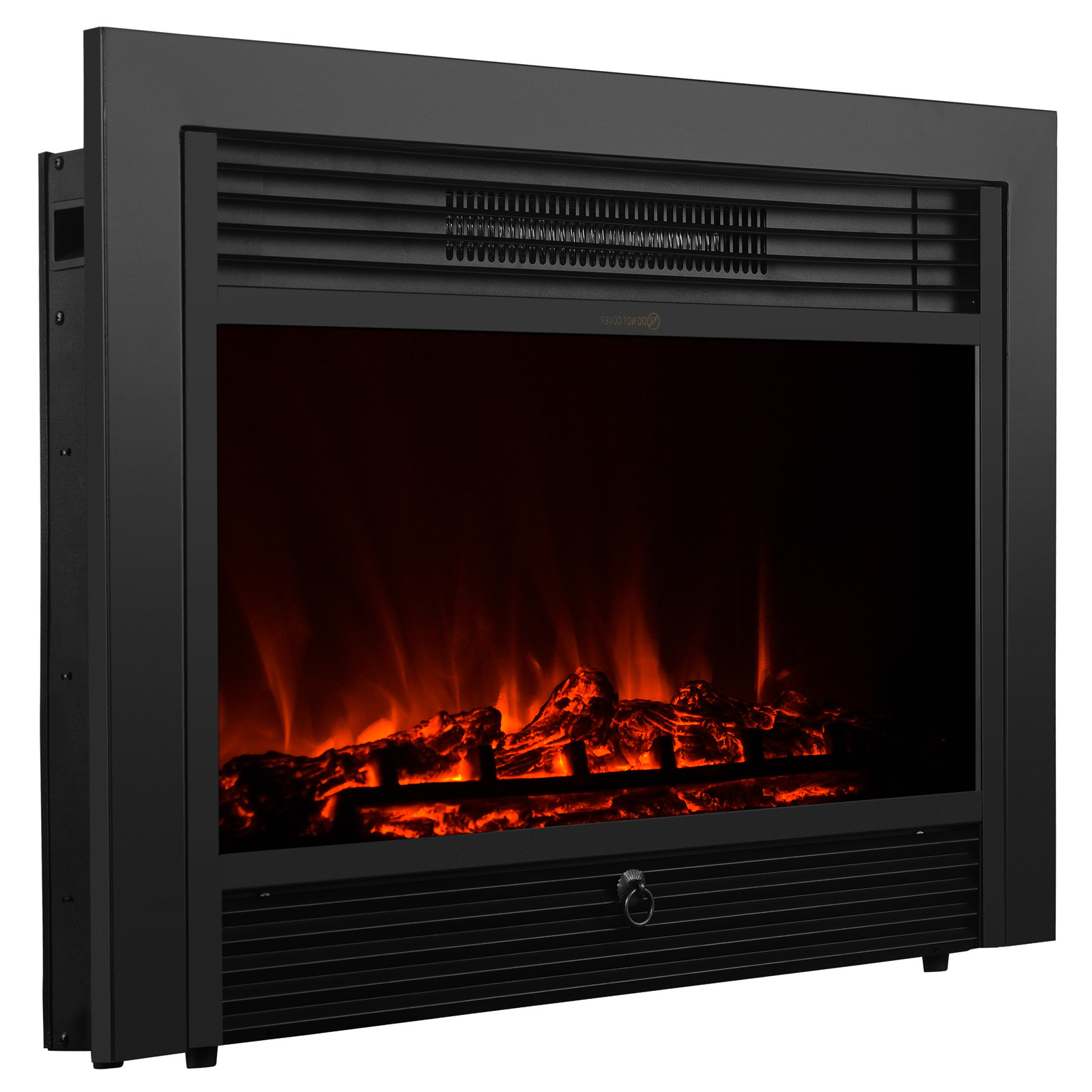 """Best ideas about Electric Fireplace Insert With Heater . Save or Pin 28 5"""" Embedded Electric Fireplace Insert Heater Glass View Now."""