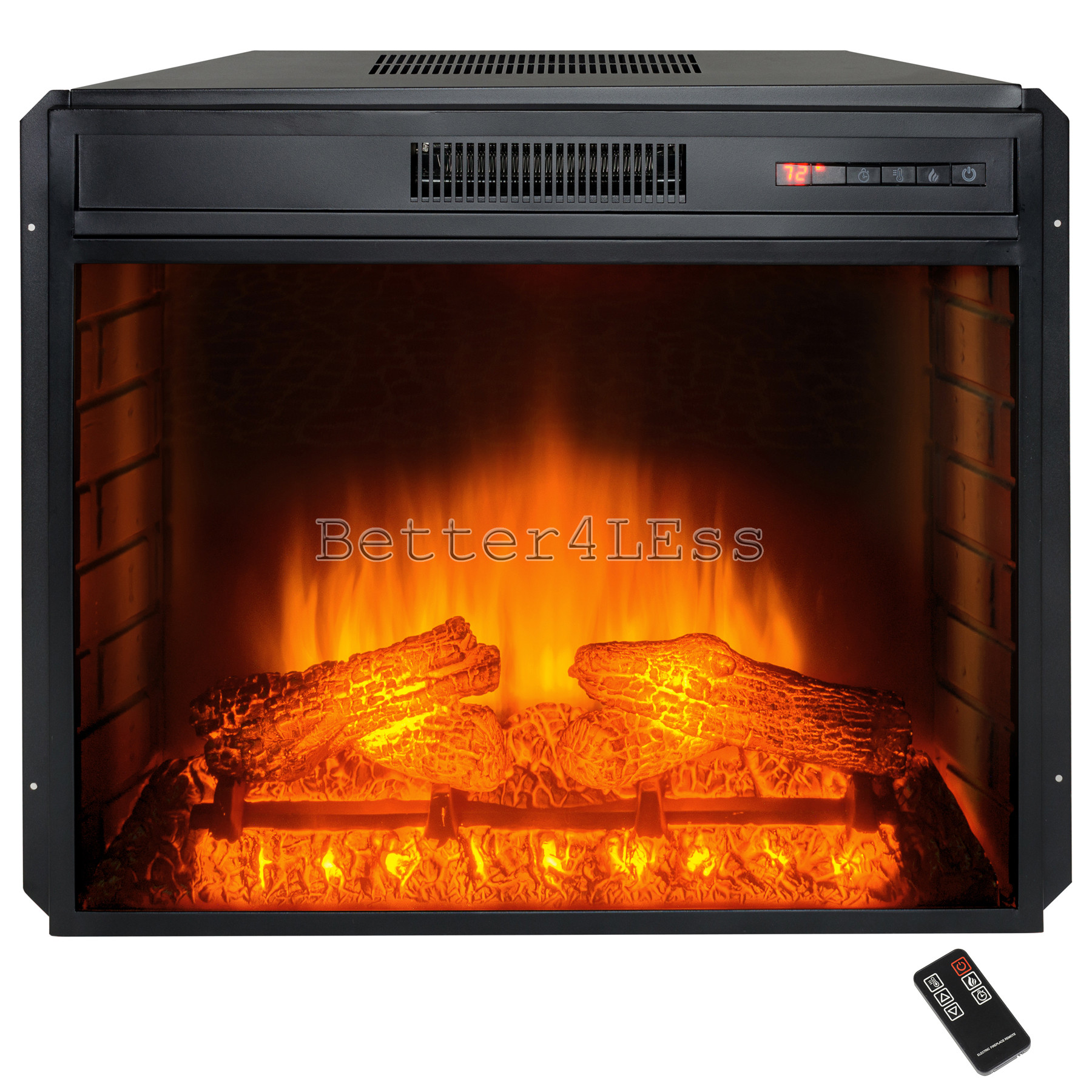 Best ideas about Electric Fireplace Insert With Heater . Save or Pin 28 in Freestanding Adjustable Electric Fireplace Insert Now.