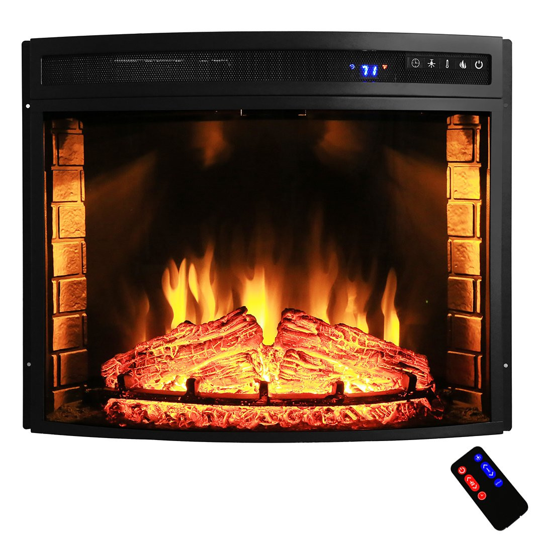"""Best ideas about Electric Fireplace Insert With Heater . Save or Pin AKDY 28"""" Black Electric Firebox Fireplace Heater Insert Now."""