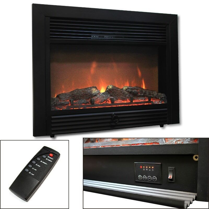 """Best ideas about Electric Fireplace Insert With Heater . Save or Pin 28 5"""" Electric Fireplace Embedded Heater Insert Log Flame Now."""