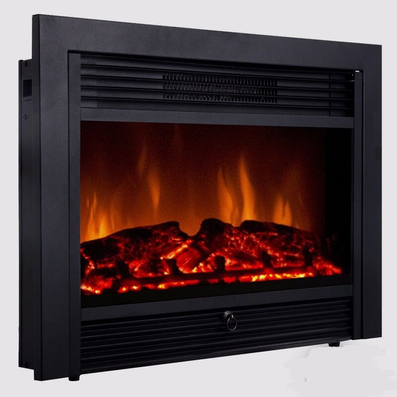 """Best ideas about Electric Fireplace Insert With Heater . Save or Pin 28 5"""" Embedded Fireplace Electric Insert Heater Glass View Now."""