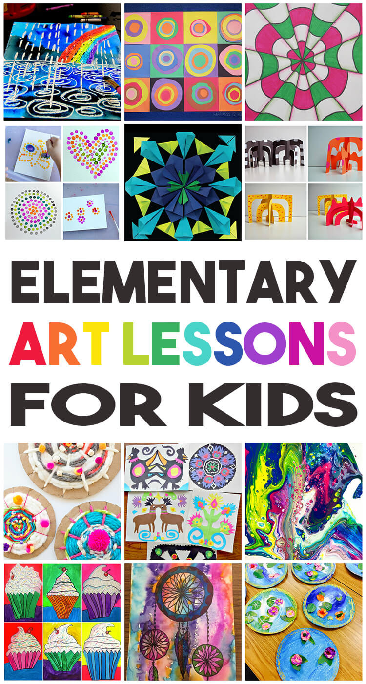 Best ideas about Elementry Art Projects . Save or Pin 36 Elementary Art Lessons for Kids Happiness is Homemade Now.