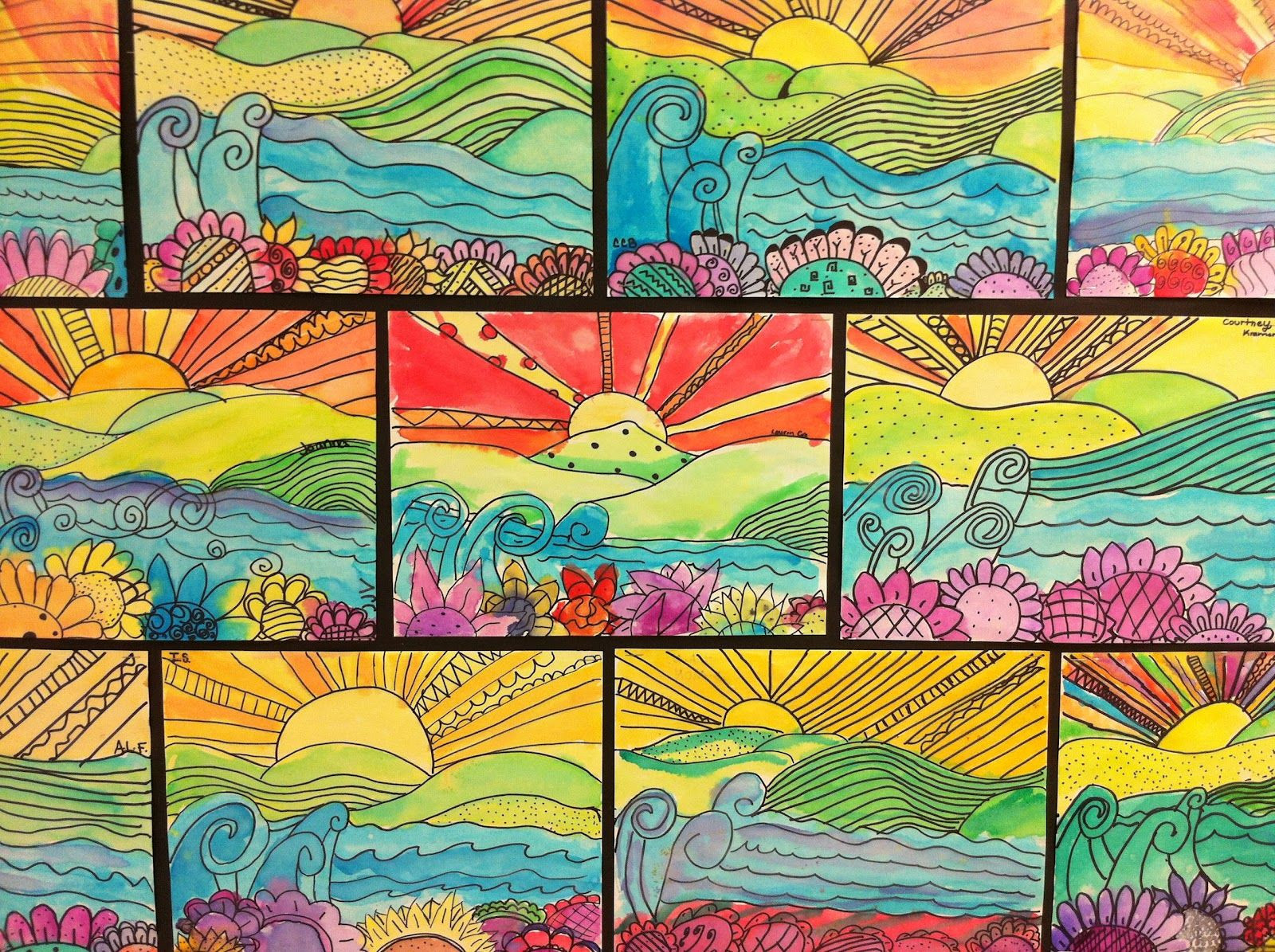 Best ideas about Elementry Art Projects . Save or Pin Apex Elementary Art whimsical landscapes Now.