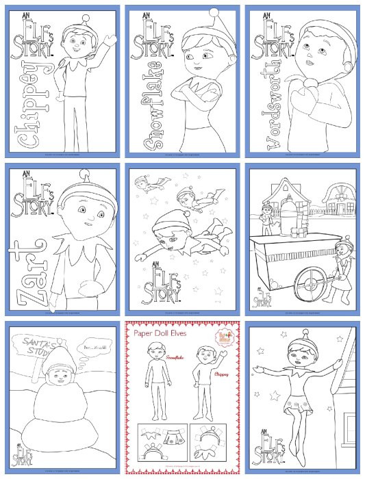 Best ideas about Elf On The Shelf Printable Coloring Pages . Save or Pin Elf The Shelf Free Printable Coloring Pages Now.