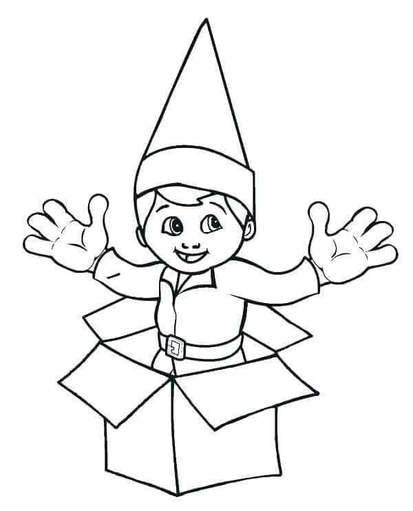 Best ideas about Elf On The Shelf Printable Coloring Pages . Save or Pin 30 Free Printable Elf The Shelf Coloring Pages Now.