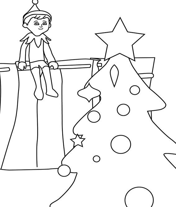Best ideas about Elf On The Shelf Printable Coloring Pages . Save or Pin 102 best images about Christmas Coloring Pages on Now.