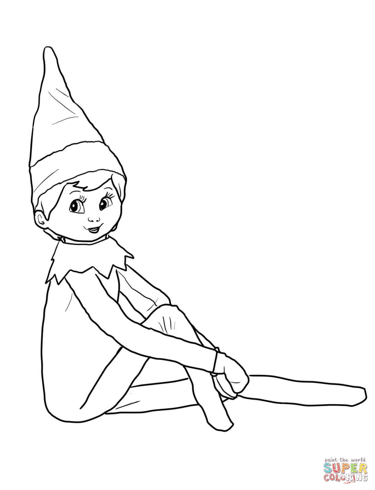 Best ideas about Elf On The Shelf Printable Coloring Pages . Save or Pin Elf on the Shelf coloring page Now.
