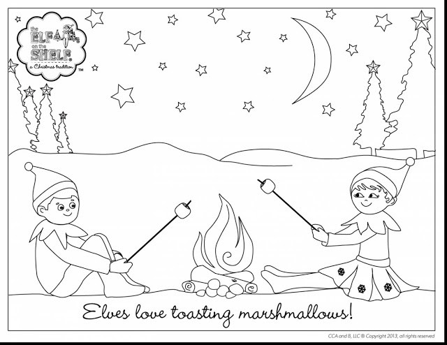 Best ideas about Elf On The Shelf Printable Coloring Pages . Save or Pin Little Lids Siobhan Now.