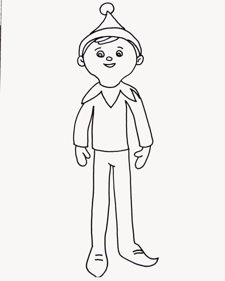 Best ideas about Elf On The Shelf Printable Coloring Pages . Save or Pin Elf Color Pages Coloring Home Now.