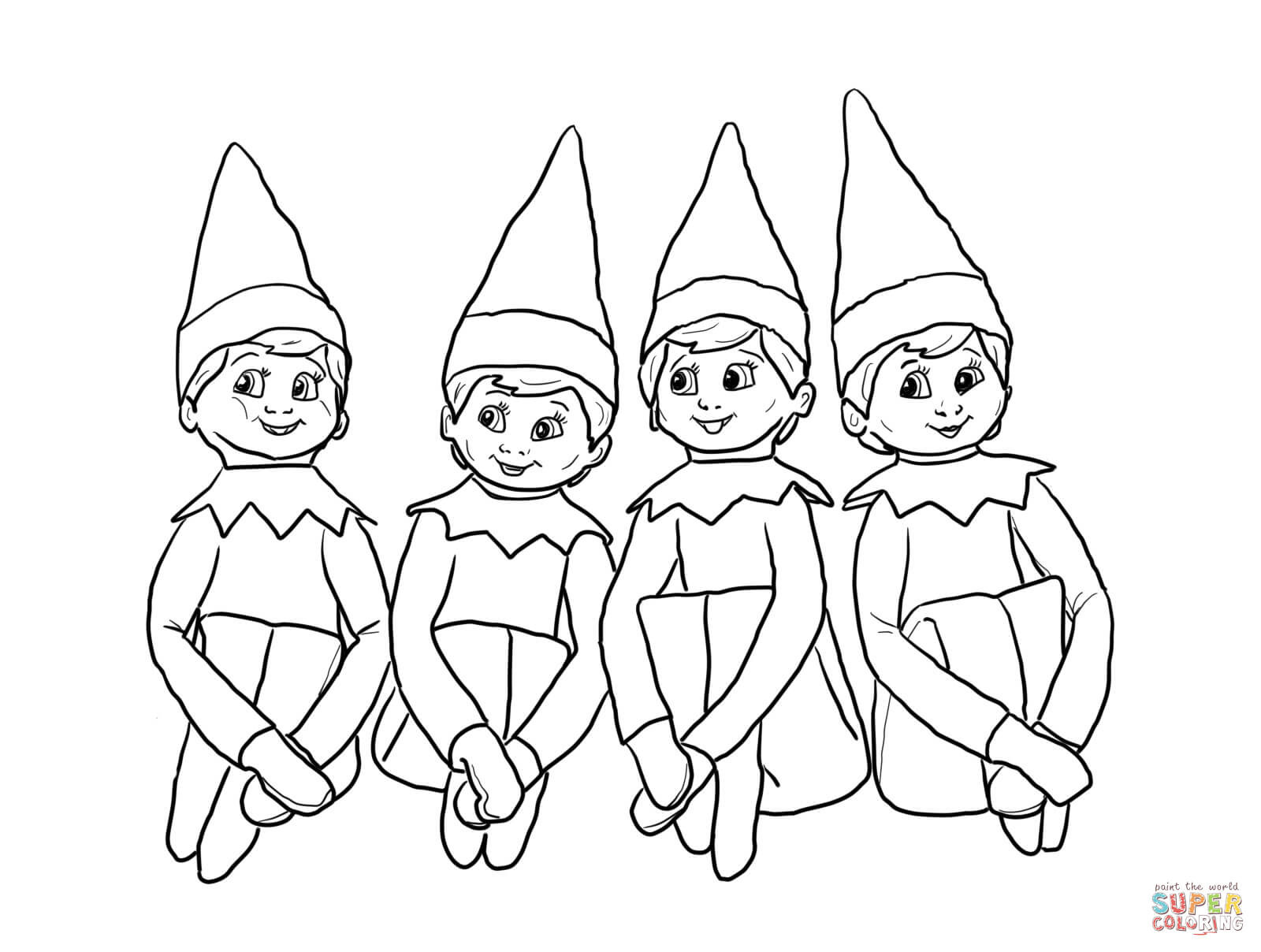 Best ideas about Elf On The Shelf Printable Coloring Pages . Save or Pin Elf The Shelf Coloring Pages To Print Coloring Home Now.