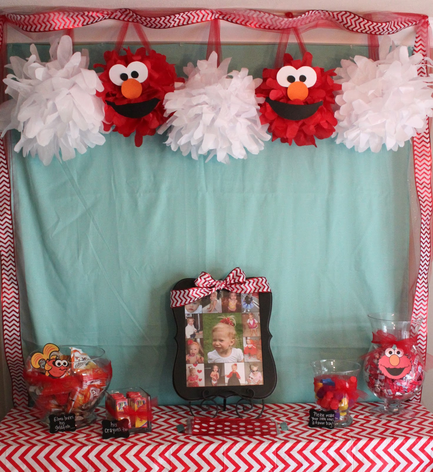 Best ideas about Elmo Birthday Decorations . Save or Pin Handmade Happiness Elmo 2nd Birthday Party Now.