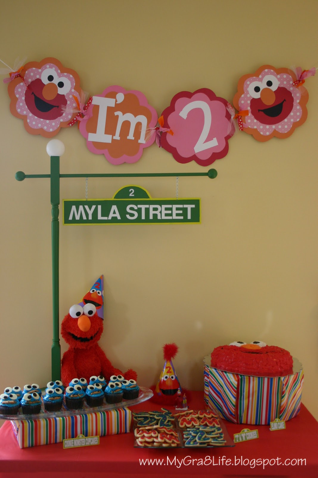Best ideas about Elmo Birthday Decorations . Save or Pin My Gra 8 Life Elmo Party Now.