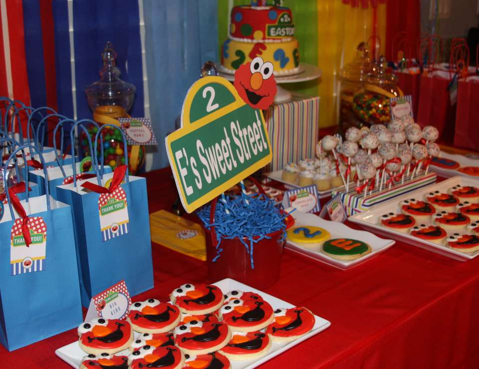 """Best ideas about Elmo Birthday Party . Save or Pin Sesame Street Elmo Birthday """"Easton s 2nd Elmo Birthday Now."""