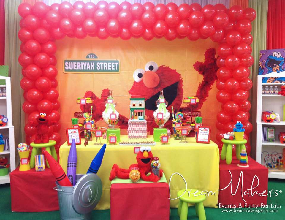 """Best ideas about Elmo Birthday Party . Save or Pin Elmo & Sesame Street Birthday """"Elmo 1st Birthday Party Now."""