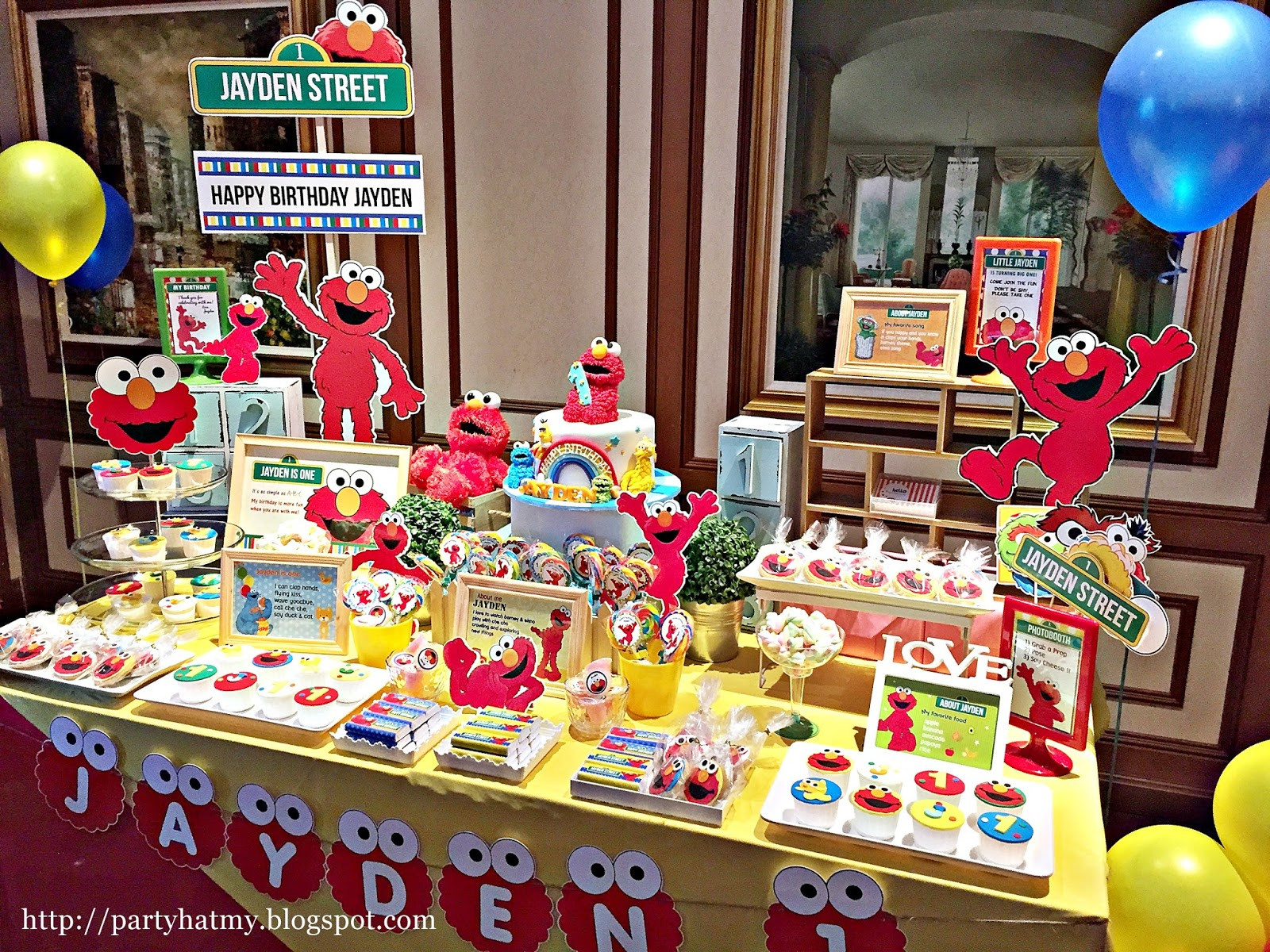 Best ideas about Elmo Birthday Party . Save or Pin Party Hat Jayden s First Elmo birthday party Now.