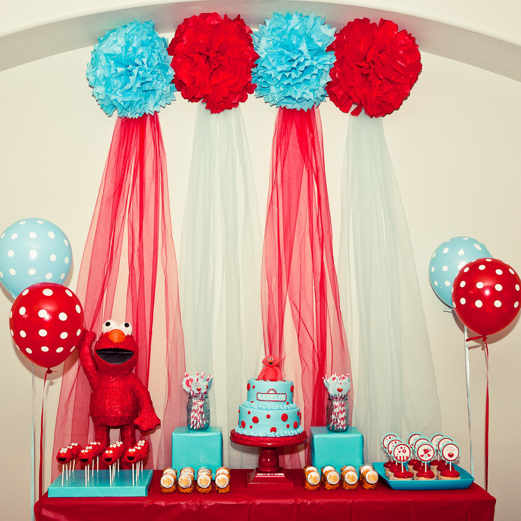 Best ideas about Elmo Birthday Party . Save or Pin Kara s Party Ideas Red and Turquoise Elmo Party Sesame Now.