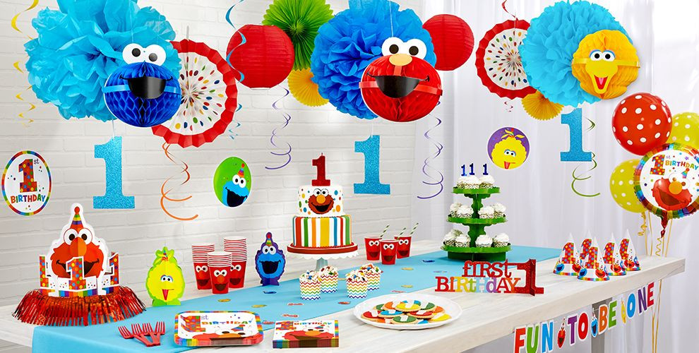 Best ideas about Elmo Decorations For 1st Birthday . Save or Pin Elmo 1st Birthday Party Supplies Party City Now.