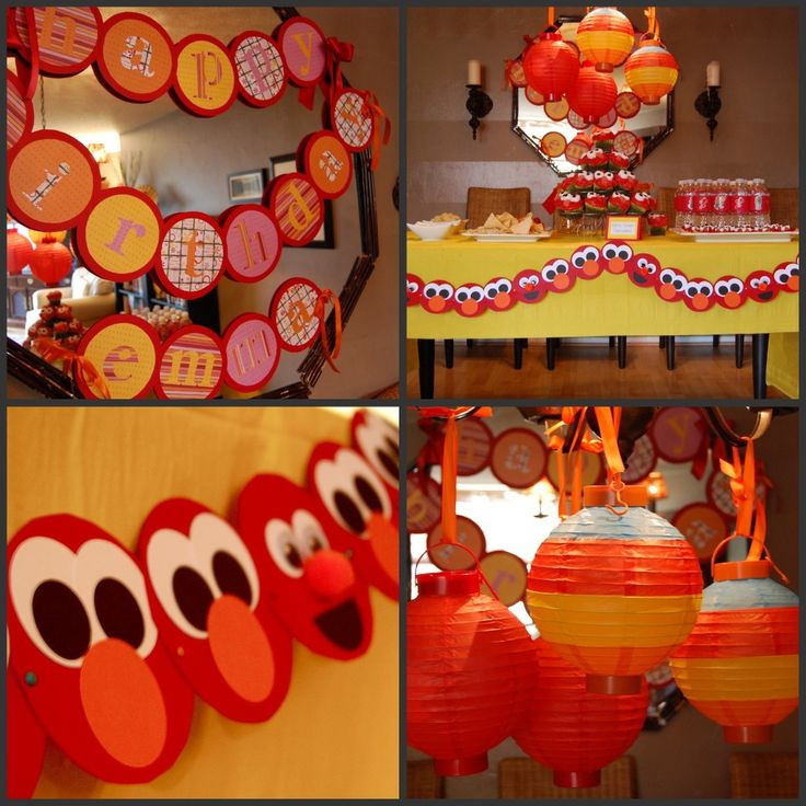 Best ideas about Elmo Decorations For 1st Birthday . Save or Pin 90 best Sesame Street 1st Birthday Party images on Now.