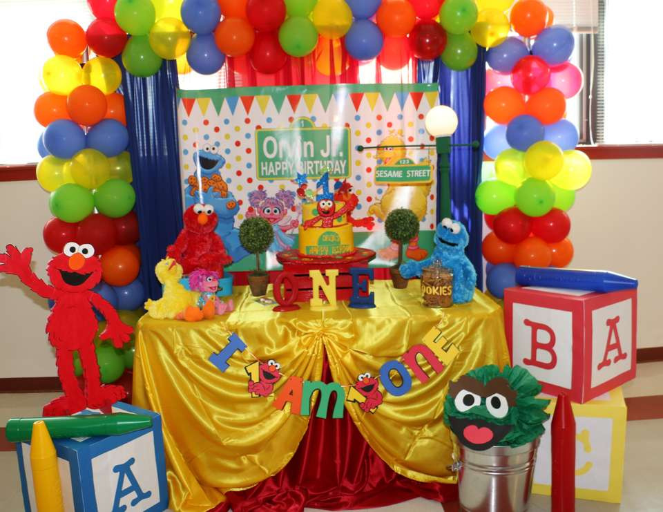 "Best ideas about Elmo Decorations For 1st Birthday . Save or Pin Birthday ""Elmo Sesame Street 1st Birthday "" Now."