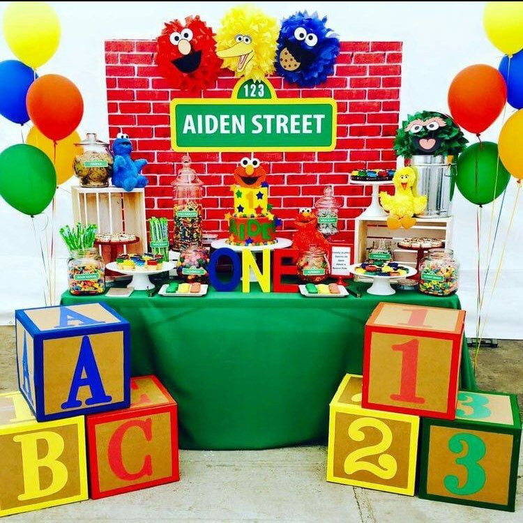 Best ideas about Elmo Decorations For 1st Birthday . Save or Pin Amazing Sesame Street Party with our awesome backdrop Now.