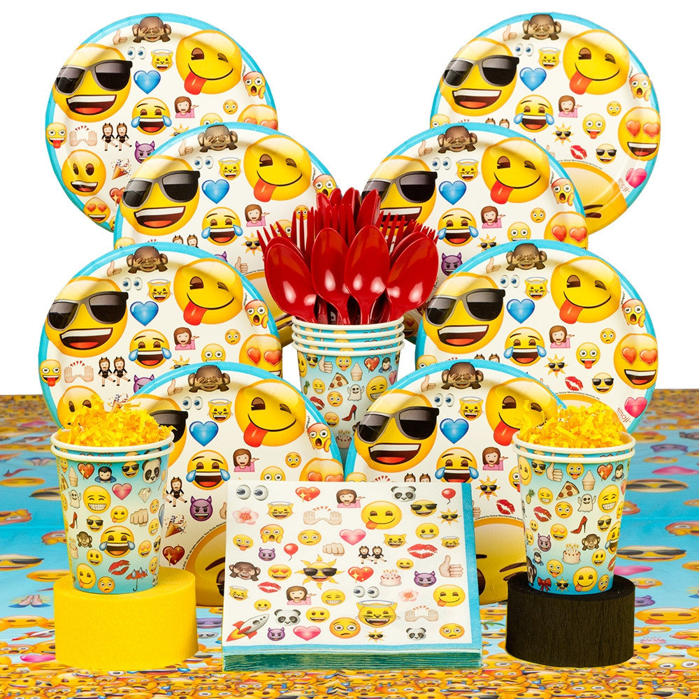 Best ideas about Emoji Birthday Party . Save or Pin Emoji Standard Birthday Party Tableware Kit Serves 8 Now.