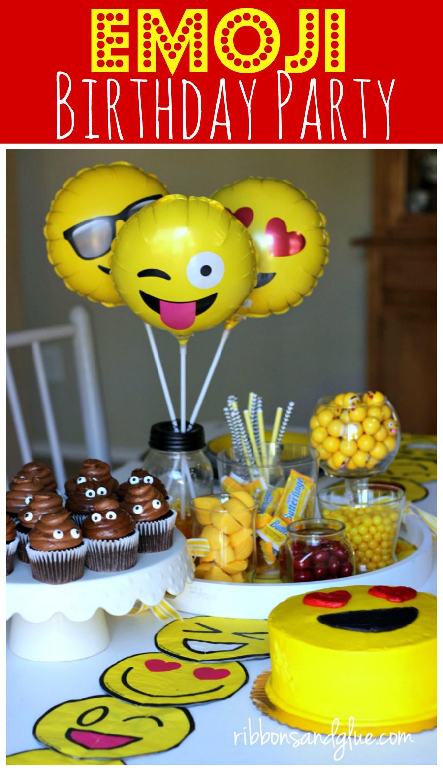 Best ideas about Emoji Birthday Party Decorations . Save or Pin Emoji Birthday Party Now.