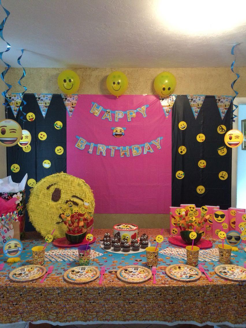 Best ideas about Emoji Birthday Party Decorations . Save or Pin Emoji party backdrop Emoji party Pinterest Now.