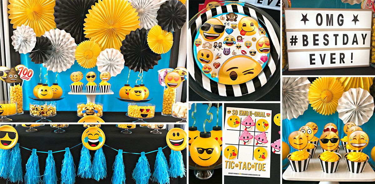 Best ideas about Emoji Birthday Party Decorations . Save or Pin Emoji Kids Party Supplies Now.